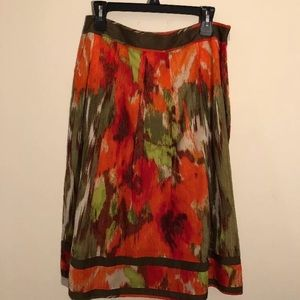 Women's Multicolored A-line skirt Talbots 10p